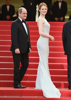 "Emma Stone Looks Like a '90s Bride at Cannes — Was It the Right Move?: When Emma Stone rolled up to the red carpet at the Irrational Man premiere in Cannes, our first thought was, ""Here comes the bride."""
