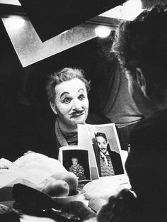Charlie Chaplin photographed by W. Eugene Smith, 1952.