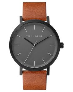 http://www.surfstitch.com/product/the-horse-unisex-leather-watch-matte-black-tan