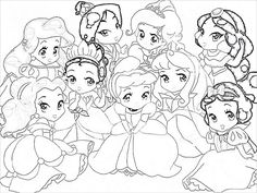 Baby Disney Princess Drawing Pr Mermaid Coloring Pages Cinderella