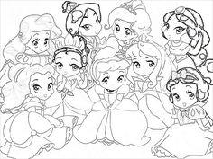 Baby Disney Princess Drawing Baby disney pr