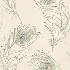 Peacock Seagrass wallpaper by Prestigious
