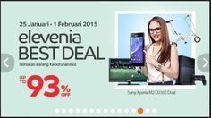 Elevenia Best Deal Diskon Sampai 93 Persen, 25 Januari Sampai 1 Februari 2015