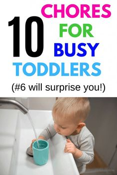 A toddler chore list that is realistic and easy for young kids to do. This chores for toddlers ideas list will help toddlers and preschoolers learn housekeeping and independence. Chores For Kids By Age, Toddler Chores, Toddler Discipline, Positive Discipline, Toddler Boys, Toddler Routine, Toddler Learning Activities, Parenting Toddlers, Toddler Preschool