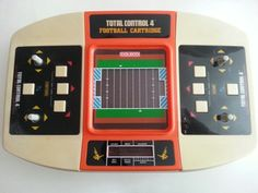 Coleco Total Control 4 with Football Cartridge Vintage Video Games, Retro Video Games, Vintage Games, Radios, Computer Video Games, Handheld Video Games, Control 4, Video Game Collection, Electronic Toys