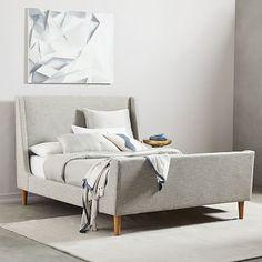 Upholstered Sleigh Bed #westelm