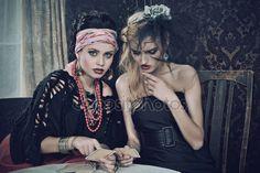 Herunterladen - Zigeuner-Wahrsager-Karten-Zauber — Stockbild #11258993