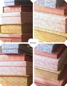 Cute boxes; decor, storage or gifts