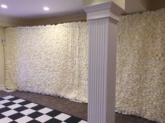 Flower wall, 6m x 3m (adjustable) with fibre optic lights. Made with luxury fire retardant material. Half size 3m x 3m also available.