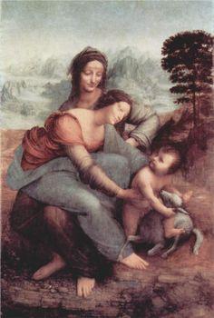 Madonna, and child with Saint Anne, Leonardo da Vinci, 1503-1506, Musee du Louvre, Paris