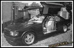 Mercedes Benz Gullwing by Styling Garage Mercedes W126, Garage, Classic, Car, Vehicles, Style, Carport Garage, Derby, Swag