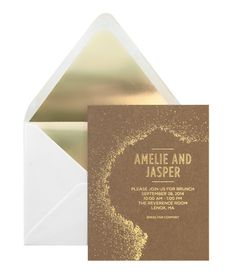 Bliss and Bone wedding invitation suite | 100 Layer Cake Brunch Invitations, Gold Invitations, Formal Invitations, Invitation Suite, Invitation Design, Wedding Paper, Wedding Bride, Diy Wedding, Wedding Engagement