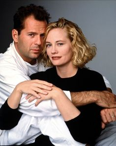 Bruce Willis et Sybill Shepperd - Série TV Clair de Lune . 1985