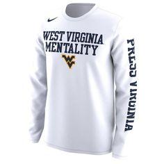 Nike WVU Basketball Mentality Bench Long Sleeve Tee