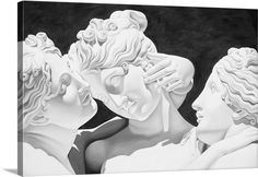 """Australian artist Catherine Abel creates striking figurative oil paintings. Combining classic victorian styles with complex themes of feminine sexuality, her works are powerfully seductive compositions of strength and beauty. """"Three Graces"""" canvas print is especially striking in black and white. Take a look by visiting GreatBIGCanvas.com"""