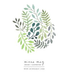 watercolor / plants - minna may design + illustration