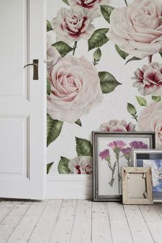 Love florals? You'll love this stunning floral wallpaper design. The beauty of roses and carnations are timeless, making this a popular wallpaper choice for your home. It looks wonderful in living room spaces, bringing style and sophistication to any wall it touches.