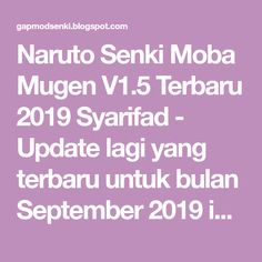 Gapmodsenki: Naruto Senki Mod Moba Mugen by Syarifad Alucard Mobile Legends, Naruto Games, Team 7, App, Buddha, Apps