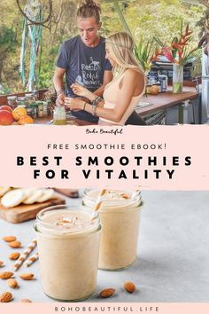 Recipes for Vitality and Health Our FREE High-Frequency Juices and Smoothies Ebook full of recipes and ideas for healthy plant-based drinks Healthy Detox, Healthy Drinks, Boho Beautiful, Beautiful Life, Health And Wellness, Health Tips, Juicing Benefits, Good Smoothies, Plant Based Eating