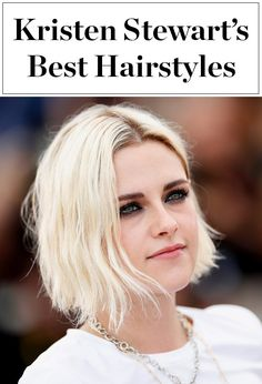 Click ahead to see Kristen Stewart's best hairstyles ever - long, short, blond, brunette - she's done it all!