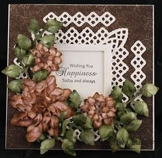 Tattered Blossoms Wedding Card by Glenda Brooks