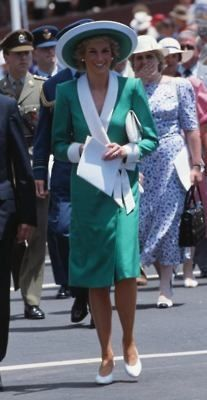 Diana Princess of Wales at the  Australia Day Celebrations in Sydney 1988