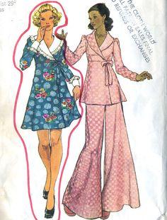 Vintage 70s Simplicity 5959 Misses  Disco Wrap Top by RomasMaison