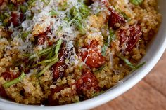 Quinoa with Slow Roasted Tomatoes and Basil