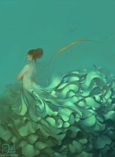 """""""Strings Attached"""" by Sejael. I'm kind of obsessed with people underwater right now."""
