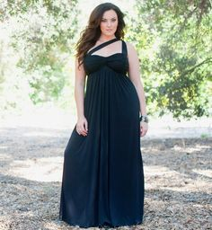 Maxi dress plus size black