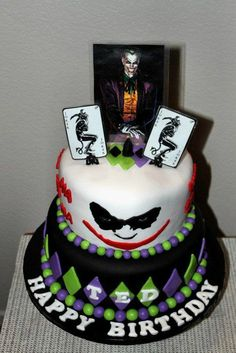 Joker Themed Birthday Cake
