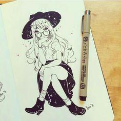 draw by: @yenkoes  #animegirldrawing