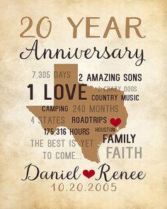 20th anniversary time …   Anniversary   Pinte…