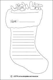 Christmas Wish List  Worksheets Santa And Craft