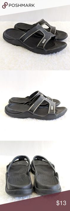 38e275d40f00 Crocs Sandals Shoes Black Gray Sz 10 Crocs Sandals Shoes Black Gray Sz Show  wear but still in really good condition!