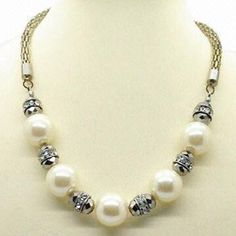 Costume Jewelry Necklaces | Necklace/Fashion Jewelry, 2013 New Design, Made of Alloy, Rhinestones ...