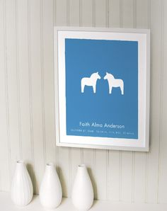 @Ingrid Anderson, saw this and thought of you!!  Dala Horses Pair Baby Name Birth Keepsake Print - Great for Twins. $35.00, via Etsy.