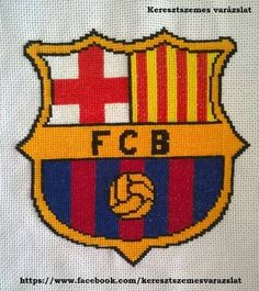 FC Barcelona címer cross stitch