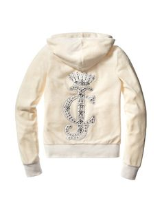 Juicy Couture: Embellished Patch Velour Hoodie