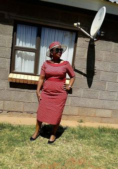 From the Mountain Kingdom of Lesotho African Fashion Skirts, African Print Dresses, African Dresses For Women, African Print Fashion, African Prints, African Women, Seshoeshoe Dresses, Girls Formal Dresses, Dress Outfits