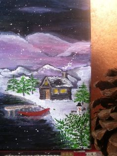 Starlight Pond #ColdMountainGypsyWagon #ColdMountainGypsy #ColdMountain #Cold Mountain #ColdMountainArt # Art #Paint #SpecialRequest #Sold
