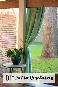 DIY Patio Curtains from Amber-Oliver.com
