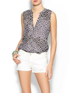 Velvet by Graham & Spencer Dayna Ikat Top | Piperlime