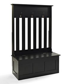 Take a look at this Black Ogden Entryway Hall Tree/Storage Bench on zulily today!