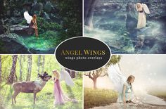 Angel Wings – photo overlays by BrownLeopard on Creative Market