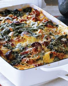 Sweet Paul's Sausage & Swiss Chard Strata - Perfect for Christmas brunch!