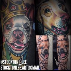 Tattoos for Pet Lovers. Tattoo by Stockton Lee. Pet Lovers, Animal Tattoos, Tattoo Ink, Ink Art, Sea Creatures, Lions, Dog Cat, Pets, Awesome