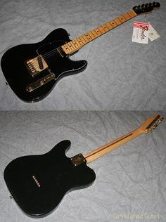 1981 Fender® Telecaster® Black & Gold limited edition (#FEE0790) Black, Excellent, Original Hard, $2,995.00 (via Gbase.com)