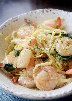 One Pot Lemon Garlic Shrimp Pasta