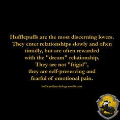 Hufflepuff relationships.